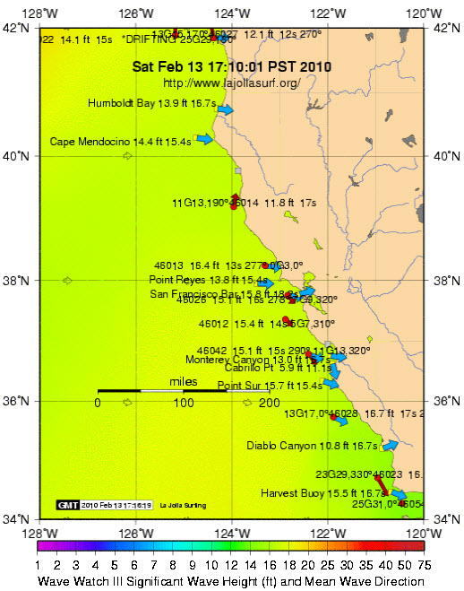 NorCal Buoy Map